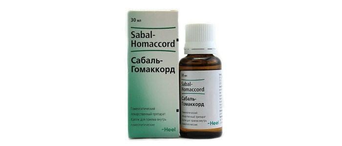 Капли Сабаль-гомаккорд