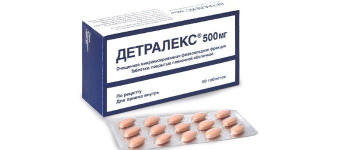 Детралекс при лечении простатита