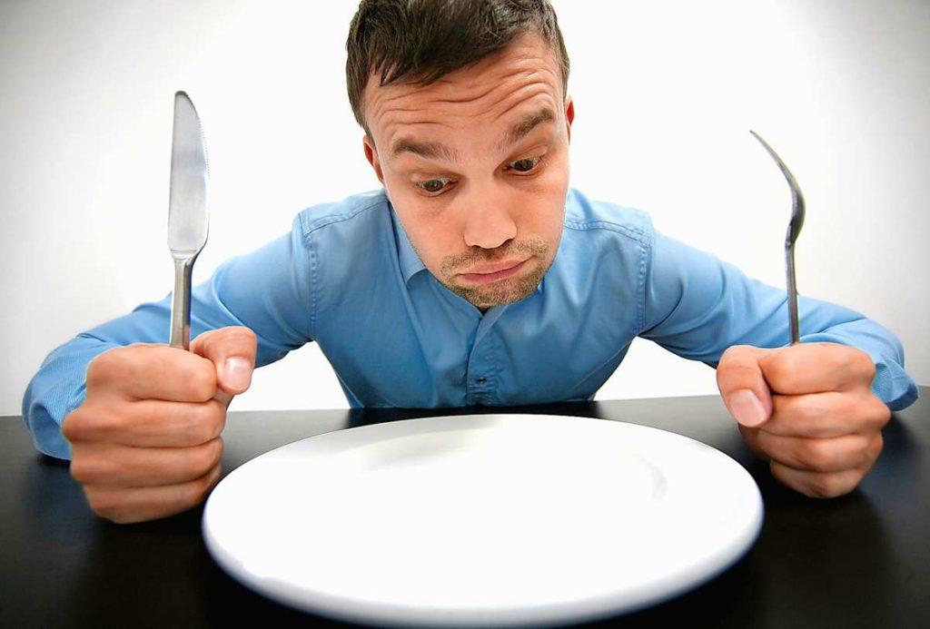 голодный мужчина